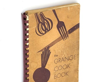 The Grange Cook Book 1950 Oregon Cookbook Recipes Vintage Scarce