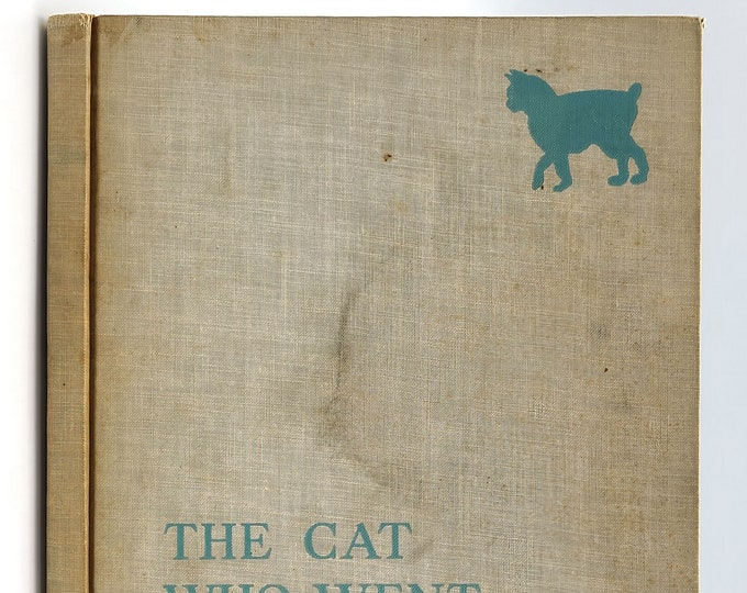 The Cat Who Went to Heaven SIGNED 1931 by Elizabeth Coatsworth illustrated by Lynd Ward - Newbery Medal - Animals - Buddhism
