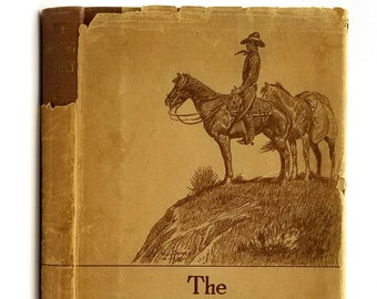 The Drifting Cowboy 1st Edition in Dust Jacket 1925 by Will James - American West - Western