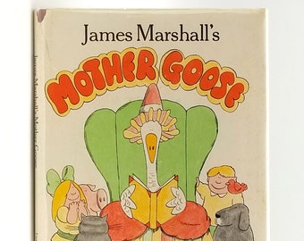 Vintage Children's Books: James Marshall's Mother Goose SIGNED 1st Edition in Dust Jacket 1979