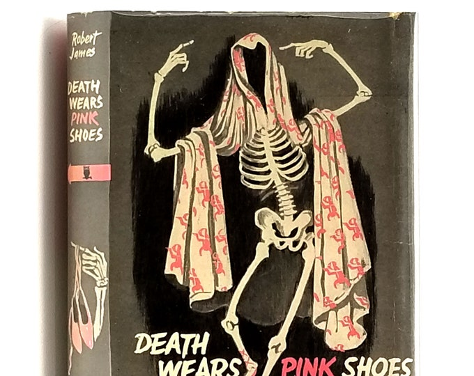 Vintage Mystery: Death Wears Pink Shoes 1st Edition in Dust Jacket 1952 Robert James - Crime Club