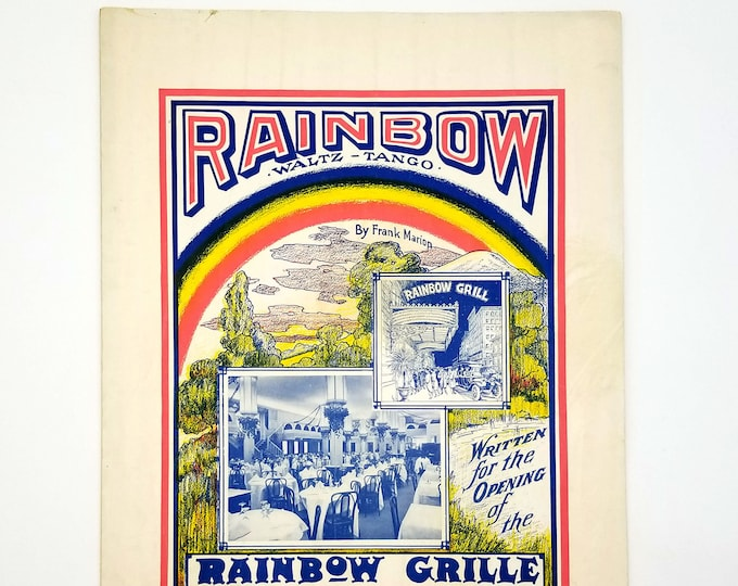 Antique Sheet Music: Rainbow Tango, Rainbow Grille (Grill) Portland, Oregon 1913/1914 by Frank Marion LGBT Culture - Theodore Kruse