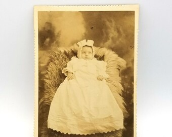 Post Mortem infant Portland Oregon 1900 Cabinet Card - Death Card - Memorial - Memento Mori