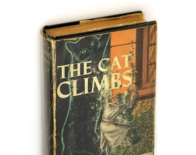 Vintage Mystery: The Cat Climbs Hardcover in Dust Jacket 1937 by C.A. Tarrant - Cat Burglar Crime Novel