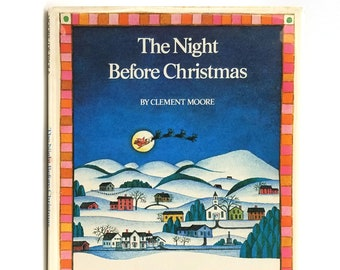 The Night Before Christmas SIGNED in Dust Jacket 1980 illustrated by Tomie De Paola story by Clement Moore