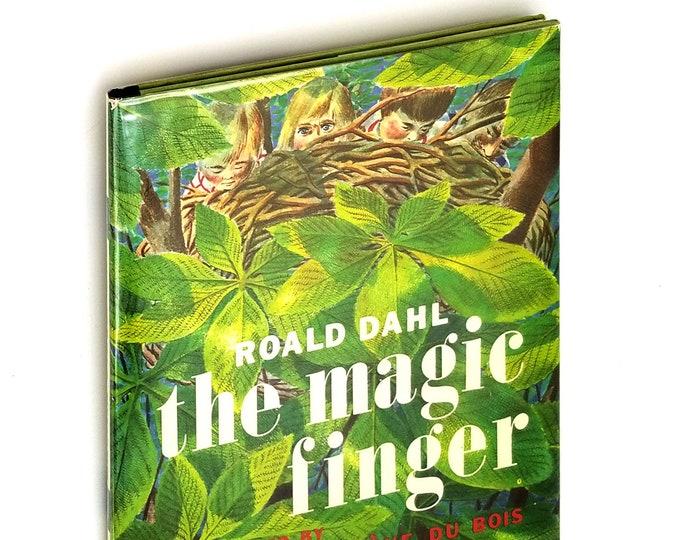 Vintage Children's Book: The Magic Finger Early Printing Hardcover in Dust Jacket by Roald Dahl ca. 1971 - Juvenile