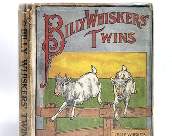Billy Whiskers' Twins by FRANCES TREGO MONTGOMERY in Dust Jacket 1925 Printing - Children's - Animal Stories