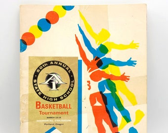 Program for Oregon's 50th Annual State High School Basketball Tournament, March 12-16, 1968