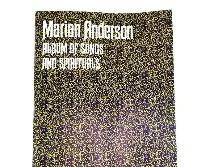 Marian Anderson: Album of Songs and Spirituals 1948 African American Songs Songbook/Sheet Music