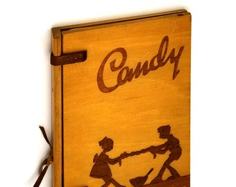 The Candy Book [wooden boards] 1938 by Claire Sondheim - Vintage Cookbook, Recipes, Sweets, Desserts