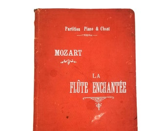 Antique Sheet Music: La Flute Enchantee [partition chant & piano] 1897 Mozart The Magic Flute - French - Songbook Score