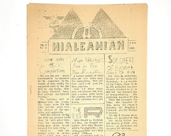 The Hialeahian 1953 Newsletter US Army Korean War Korea 2nd Logistical Command Ephemera