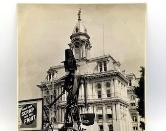 Salvage Sculpture at Courthouse Salem Oregon 1944 WWII - Scrap Metal - War Effort