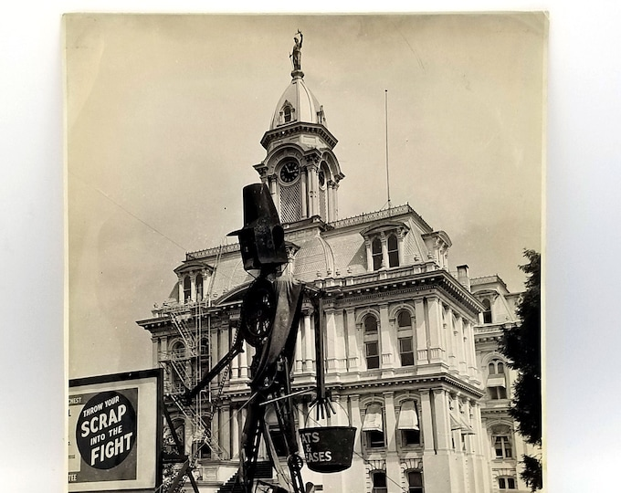 Salvage Sculpture at Courthouse Salem Oregon 1944 WWII - Scrap Metal - War Effort