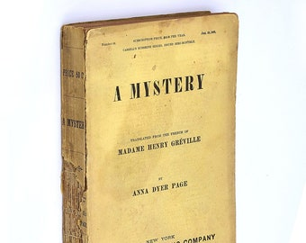 A Mystery [The Beaurand Mystery] 1891 Mme HENRY GREVILLE Female Author Antique