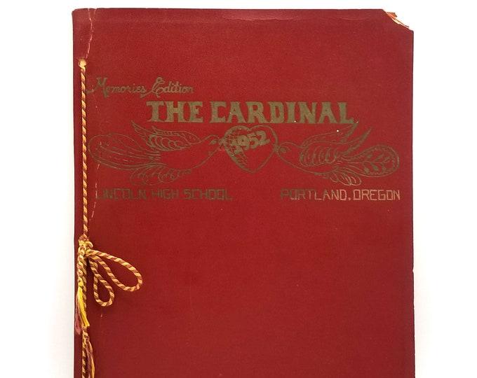 Lincoln High School [Portland, Oregon] Yearbook 1952 Cardinal - Swede Halbrook - Basketball - NBA - Jim Grelle - Track & Field
