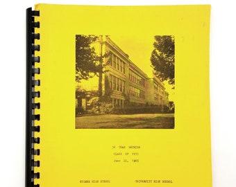 50 Year Class Reunion Book, Class of 1935 Eugene High School & University High School Oregon Lane County