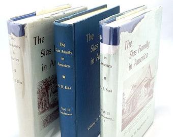 Sias Family in America 1677-1952 + Supplement I & II (3 Volume Set) Genealogy