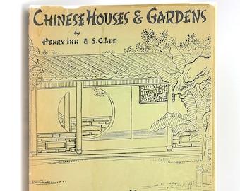 Chinese Houses & Gardens SIGNED 1950 HENRY INN Asian Architecture Design