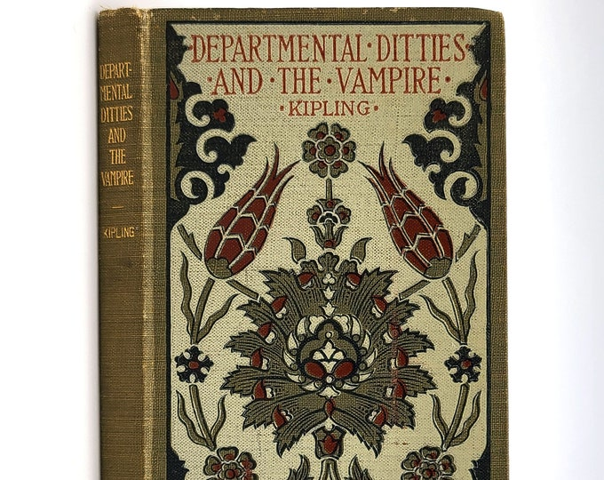 Antique Poetry Book: Departmental Ditties, The Vampire, Etc. ca. 1900 by Rudyard Kipling - Pomegranate Series