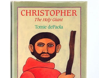 Christopher: The Holy Giant SIGNED in Dust Jacket 1994 By Tomie DePaola - Children's - Catholic Saints