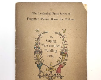 The Gaping, Wide-Mouthed, Waddling Frog 1887 Antique Children's Game ~ Leadenhall Press