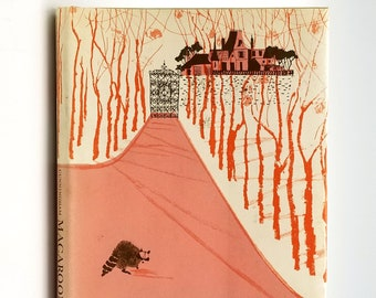 Macaroon SIGNED 1st Edition in Dust Jacket 1962 by Julia Cunningham Illustrated by Evaline Ness - Racoon - Fox - Children