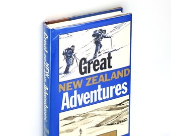 Great New Zealand Adventures Hardcover in Dust Jacket 1983 by Brian Joyce - Explorers Pioneers Stories History