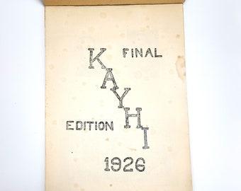 Kent High School 1926 Yearbook Kayhi ~ King County, Washington State