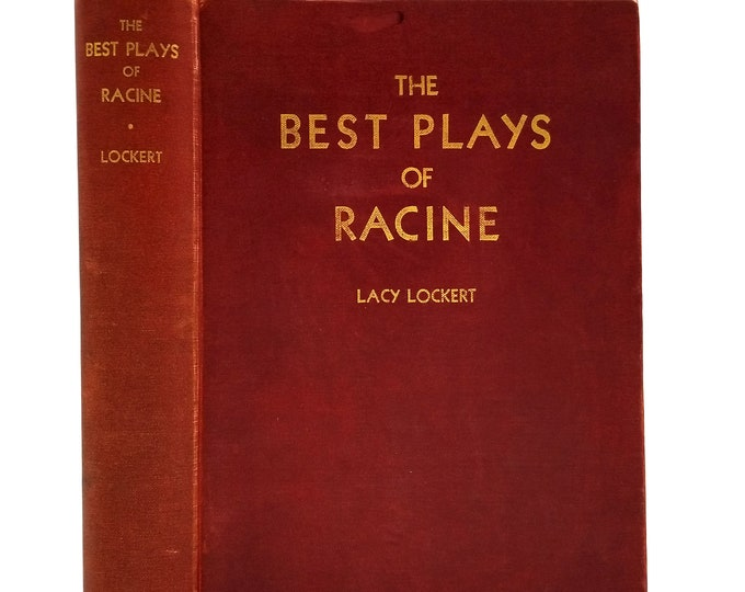 The Best Plays of (Jean) Racine 1936 1st Edition Hardcover HC - Princeton University - Drama Theater