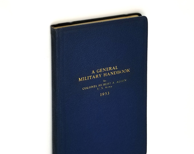 A General Military Handbook by Hubert Allen 1933 Army Reference Guide Oregon Author