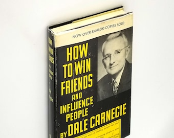 How to Win Friends and Influence People Hardcover in Dust Jacket 1964 Printing by Dale Carnegie