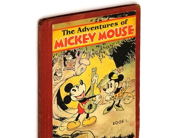 Vintage Walt Disney: The Adventures of Mickey Mouse, Book I 1st Edition, 1931 Minnie Mouse, Claws the Cat
