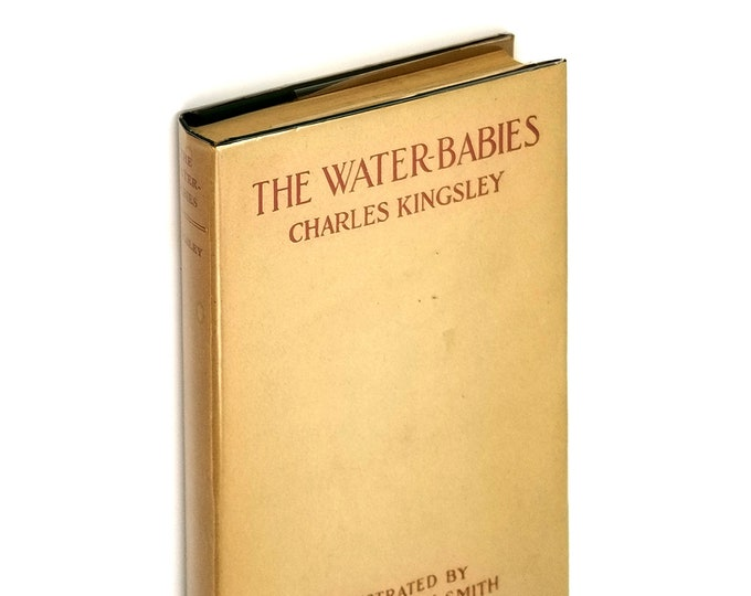 Antique YA/Juvenile Fiction: The Water-Babies in Dust Jacket 1910 by Charles Kingsley illustrated by Jessie Willcox Smith