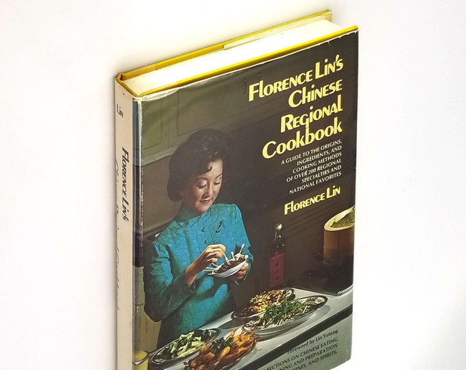 Florence Lin's Chinese Regional Cookbook Hardcover in Dust Jacket 1975 Cooking Recipes Asian