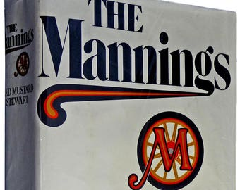 The Mannings 1973 Fred Mustard Stewart 1st Edition Hardcover HC Dust Jacket DJ Arbor House