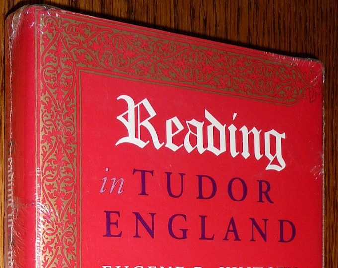 Reading in Tudor England by Eugene R. Kintgen Hardcover HC w/ Dust Jacket 1996 University of Pittsburgh Press