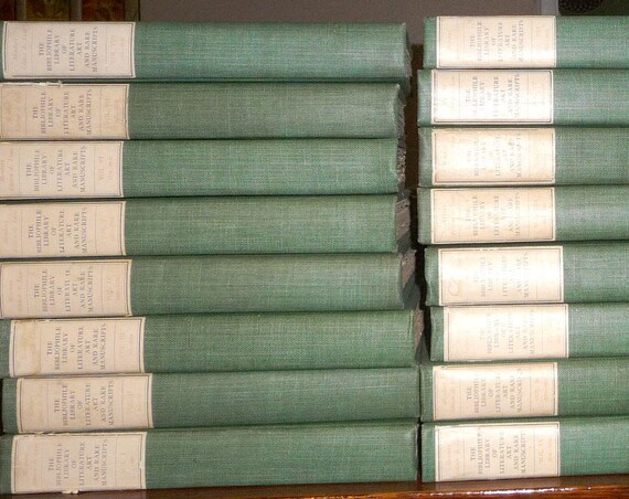 Bibliophile Library of Literature Art & Rare Manuscripts (24 of 30 volumes) 1904 Numbered Edition #291 Bibliophile Society