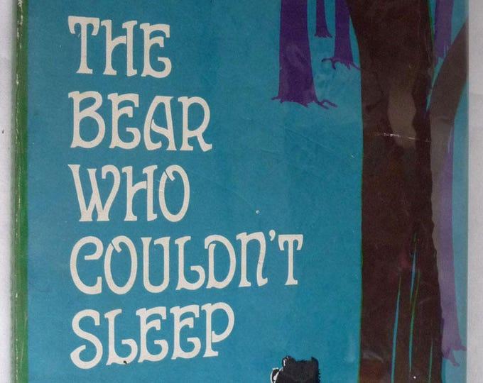 The Bear Who Couldn't Sleep 1965 Charlotte Pomeranz Meg Wohlberg Illustrator Vintage Childrens 1st Edition Hard Cover HC Dust Jacket DJ