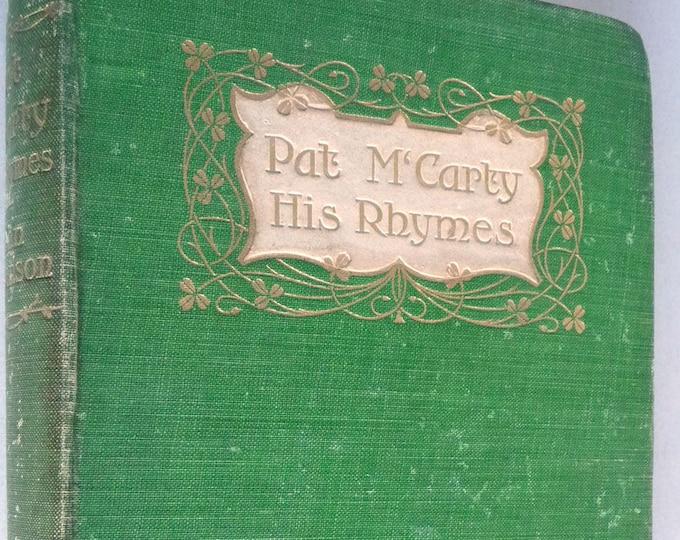 Pat M'Carty Farmer of Antrim 1903 John Stevenson Poetry Poems 1st Edition Hard Cover HC Antique Vtg Vintage London