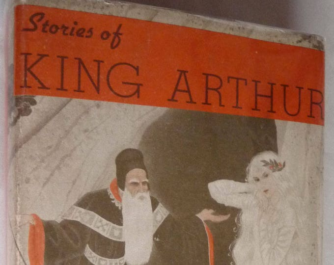 Stories of King Arthur 1946 U. Waldo Cutler Hard Cover HC Dust Jacket DJ Illustrated by Elinore Blaisdell 4th Printing Vintage Crowell Pub.