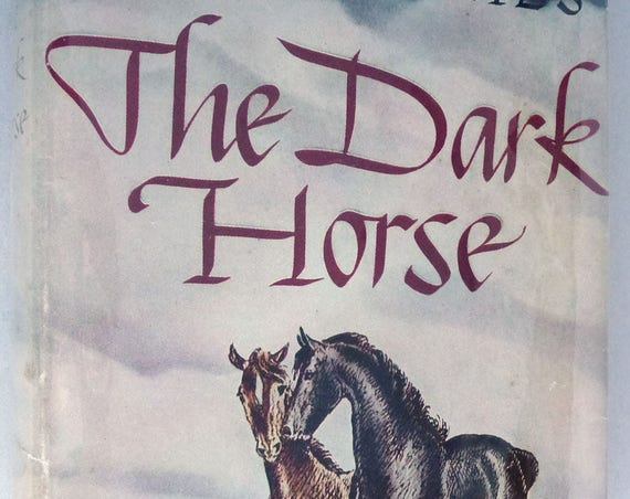 The Dark Horse 1938 Will James Vintage Vtg Western Fiction Novel Grosset Publisher Hard Cover HC Dust Jacket DJ