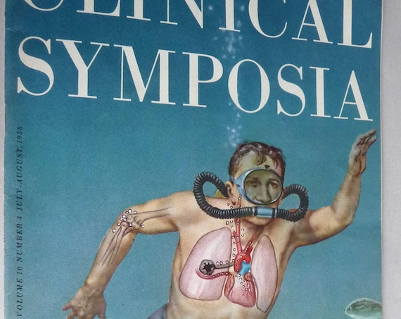 CIBA Clinical Symposia Volume 10 Number 4 July-August 1958 Vintage Medical Journal Scarce Edition Diving Compression Decompression Bends