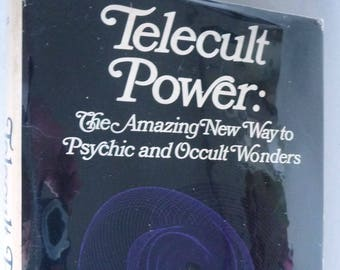 Telecult Power: The Amazing New Way to Psychic & Occult Wonders 1970 by Reese P. Dubin 1st Edition Hardcover HC w/ Dust Jacket DJ