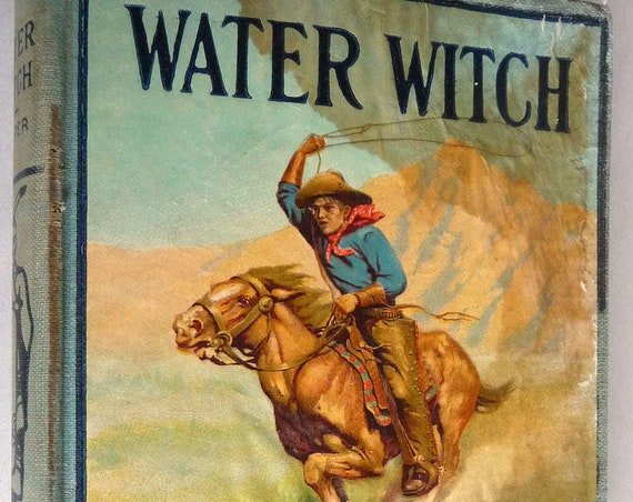 Water Witch by James Fenimore Cooper - Hurst & Co. ca. early 1900's Fiction Novel Pictorial Hardcover HC Antique Collectible
