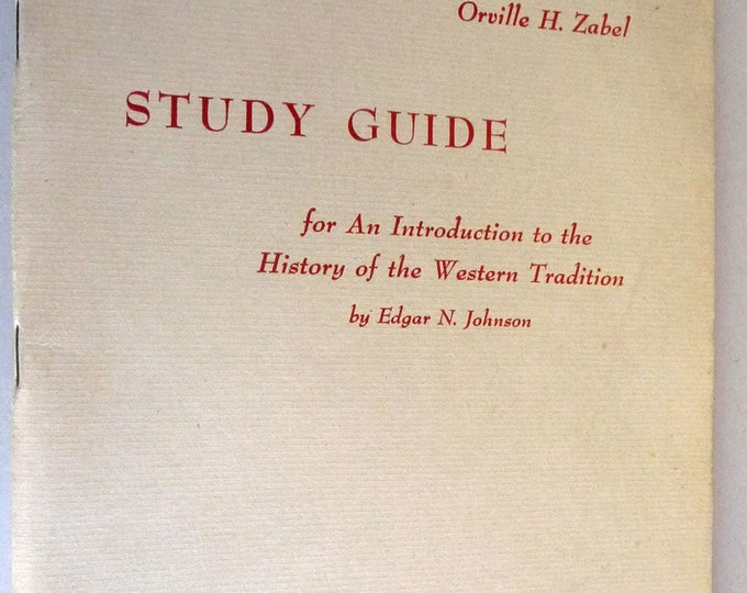 Study Guide for An Introduction to the History of the Western Tradition 1959 Religion Christianity History East & West