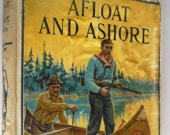 Afloat and Ashore by James Fenimore Cooper - Hurst & Co. Ca. 1908 Pictorial Hardcover HC - Antique Western Fiction Novel Antique Collectible