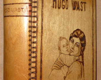 Flor de Durazno 1929 Hugo Wast Very Rare Wood Cover Buenos Aires Spanish Fiction
