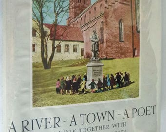A River - A Town - A Poet: A Walk Together with Hans Christian Andersen 1961 by Aksel Dreslov Signed Denmark Hardcover HC w/ Dust Jacket DJ