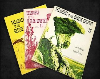 Treasures of the Oregon Country, Volumes I, II and IV by Maynard C. Drawson 1974 & 1977